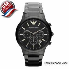New Emporio Armani AR2453 Black Dial Chronograph Men's Classic Watch