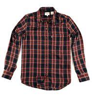 Levi's Ultimate Boyfriend Shirt Blouse Women's Red/Blue Tartan Checks 58937-0044