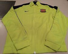 Team FC Barcelona European Soccer Football Full Zip Track Jacket XX-Large Lime