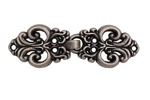 kleiner silber antik Verschluss Metall Schliesse Tracht Gewand 45x15mm 1 Stück