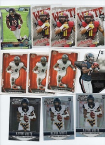 West Virginia Mountaineers SAN FRANCISCO 49er's 35 CARD KEVIN WHITE ROOKIE LOT