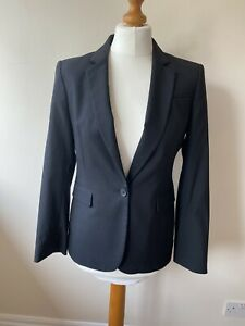 Banana Republic Wool Blend Lined Black Suit Blazer. Fully Lined Size 10 Petite.