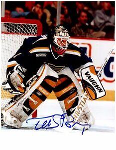 St. Louis Blues ROMAN TUREK Signed Autographed 8x10 Pic J