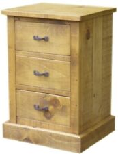 A PAIR OF NEW SOLID WOODEN BEDSIDE  CHESTS CABINETS RUSTIC PLANK PINE FURNITURE