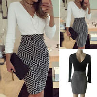 Women OL Office Ladies Business Stretch Cocktail Party Evening Slim Pencil Dress