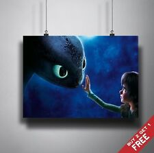 A3 HOW TO TRAIN YOUR DRAGON 2 POSTER Toothless and Hiccup Gift For Kids Children