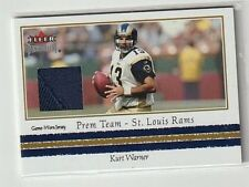 KURT WARNER 2002 FLEER PREMIUM PREMIUM TEAM GAME USED PATCH