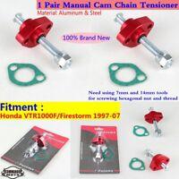 Pair Durable Motorcycle Manual Cam Chain Tensioner For Honda VTR1000F/Firestorm
