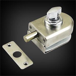 304 Stainless Steel Glass Door Lock Double-Open Sliding Door Lock Bathroom Latch