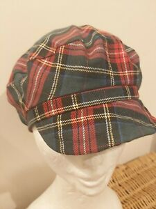 Boys toddler Tartan peaky blinders cap. Brand new with tags. Elastic at back.