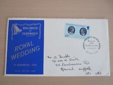Royal Wedding H.R.H. Princess Anne Guernsey First Day Cover