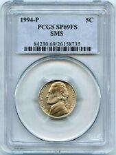 1994 P PCGS SP69FS Matte Jefferson Nickel Satin PR Full Steps Jefferson C&C Set