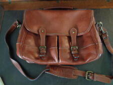 LEVENGER Tusting messenger briefcase made in England 100% full-grain leather