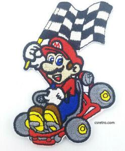 Mario Kart Super Mario Video Game Retro 90s Style Iron on Patch Applique NEW