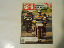 MARCH 1984 CYCLE GUIDE MAGAZINE,HARLEY FXRT SPORT GLIDE,YAMAHA VENTURE,TOURING