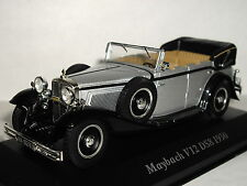MUSEUM MAYBACH V12 DS8 1930 BLACK/SILVER 1/43