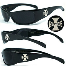 Mens Choppers Outdoors Bikers Sports Motocycle Riding Sunglasses - Black C11B