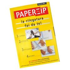 KIT PAPERZIP  RILEGATURA FAI DA TE 60 FOGLI A4 9 COVER E 9 CARTONCINI