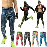 UK Men Compression Base Layer Pants Tight Leggings Gym SportS Skinny Trousers
