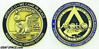 NEW APOLLO 11 50th - LUNAR FLOWN METAL MEDALLION -BACK TO THE MOON, ON TO MARS