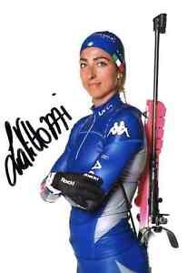 Biathlon -Originalautogramm Lisa Vittozzi
