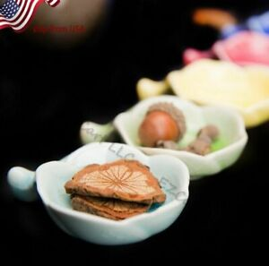Cute Flower Porcelain Soy Sauce Dish Sushi Plate Dishes Wasabi Bowl Ceramic