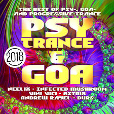 CD Psy Trance & Goa 2018 D'Artistes Divers 2CDs