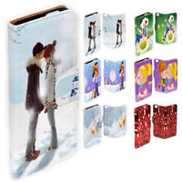 For Nokia Series - Christmas Love Print Theme Wallet Mobile Phone Case Cover