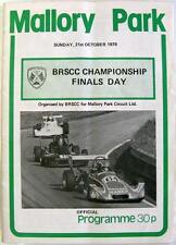 Mallory 21st OTT 1979 brscc CAMPIONATO LE FINALI MOTOR RACING PROGRAMMA UFFICIALE