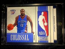 09-10 JAMES HARDEN NATIONAL TREASURES COLOSSAL LOGOMAN PATCH ROOKIE RC  #1/5