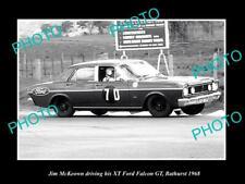 OLD HISTORIC MOTOR RACING PHOTO OF JIM MCKEOWN FORD FALCON XT GT BATHURST 1968
