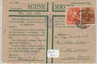 South Africa Active Serivce Cover Censored To East London Postal History J5361