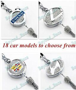 Universal CAR diamond logo Perfume Air Freshener Rearview Mirror Perfume Pendant