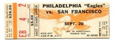 1964 Philadelphia Eagles v San Francisco 49ers Ticket 9/20 Franklin Field 50057