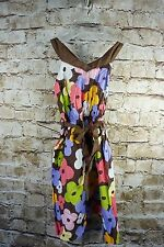 Gymboree Girls Glamour Safari Floral Brown Dress Size 6