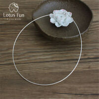 Exquisite Fashion Choker Necklace for Women Solid 925 Sterling Silver Jewelry