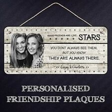 Personalised Photo Friends Stars Plaque   Hanging Metal Sign Gift Friendship
