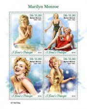 St Thomas - 2019 Actress Marilyn Monroe - 4 Stamp Sheet - ST190709a