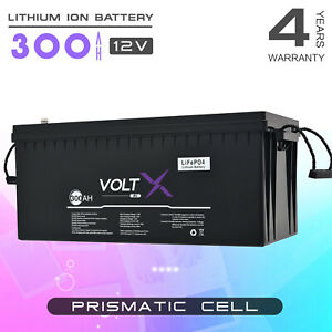 VoltX 12V 300Ah Lithium Ion Battery LiFePO4 Deep Cycle Recycle RV Solar LCD