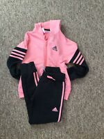 Super Cute Adidas Tracksuit Set ,hoodie,bottoms Age:7-8Years