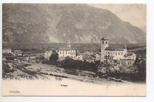 SUISSE SWITZERLAND Canton du VALAIS VIEGE vue generale carte 1900