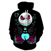 The Nightmare Before Christmas Sally Jack Skellington 3D Hoodie Sweatshirt S-5XL