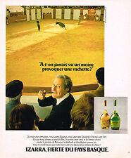 PUBLICITE ADVERTISING 074  1977  IZARRA  liqueur basque