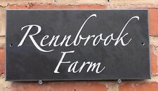 Personalised Slate House Sign 300mm x150mm  ANY NAME / NUMBER!! High Quality