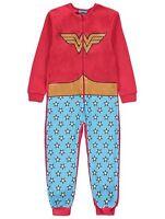 DC COMICS WONDER WOMAN pyjama tout en un Avec Détachable Cape Taille 4-14 An
