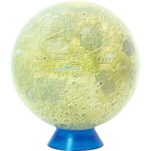 "BLUE TERRA Watanabe Moon Globe Kaguya 15 1509 15cm/5.9"" 1/23,000,000 Japan"