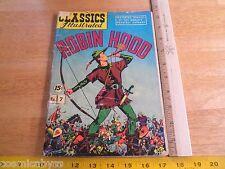 Classics Illustrated #7 Robin Hood comic book Golden Age G+ Hrn 106