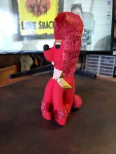 "Vntg Takara Trading Co Stuffed Red Poodle 7"" Tall Japan Carnival Fair toy prize"
