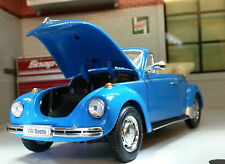 VW Beetle Cabriolet Convertible 1303 1:24 Echelle Welly Moulage sous pression