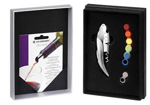 New Le Creuset Wine Accessories Gift Set Corkscrew glass marker drip free sprout